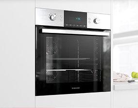 Modern full glass oven 3D model