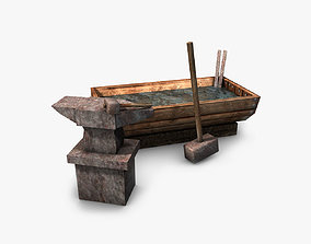 3D model Anvil with hammer