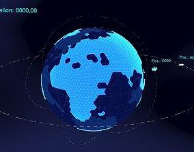3D earth simulation hologram