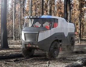 Fire truck concept 3D