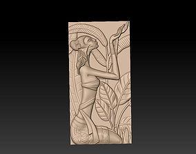 3D print model bas-relief beautiful girl