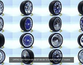 ORTAS CAR RIM 64-65-66-67-68-69-70 GAME READY 3D model