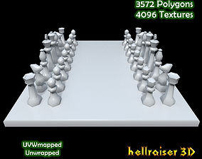 3D asset VR / AR ready Chess table