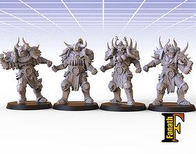 3D print model Chaos warriors