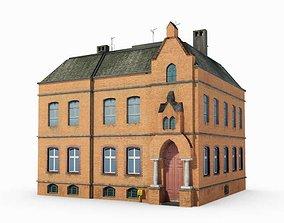 3D Historic Brick Building