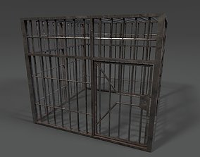 Steel Cage 3D model game-ready