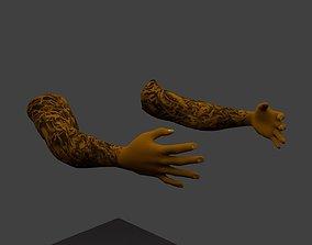 3D asset rigged FPS Hand