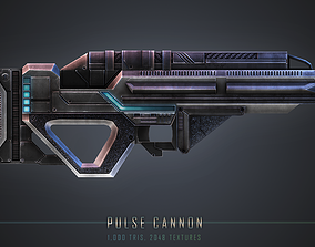 Pulse Cannon 3D model low-poly