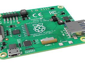 3D asset raspberry pi LCD 7 touchscreen