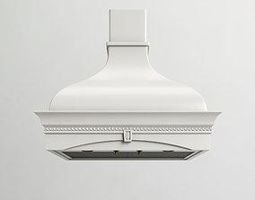 3D Classical kitchen hood MONTEBIANCO ARGENTO 900
