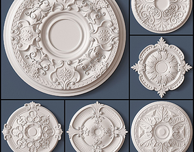 3D model 10 Ceiling Medallions Collection
