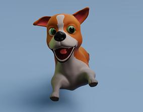 3D asset rigged Dog Model