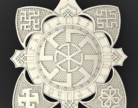 Slavic amulet silver 3D print model