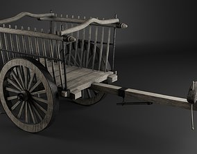 3D model Medieval Bullock Cart