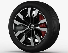 Volksvagen Touareg 2019 wheel 3D model