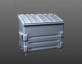 bin Dumpster 3D model realtime