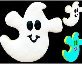 Halloween Sugar Cookie 3D asset holiday