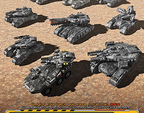 9 SF Low-res Ground Units 01 3D model