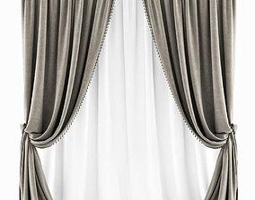Curtains Classic Beige 2 3D model