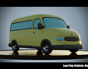 Low Poly Vehicle - VanBus 3D asset
