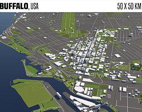 Buffalo 3D city