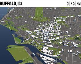 3D model Buffalo geography