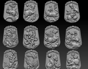 3D print model Chinese zodiac signs