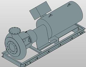 3D Generic Horizontal Pump pack 1