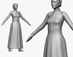 001136 maid in old style 3d print ready