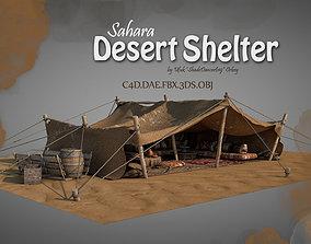 3D model Sahara Desert Shelter