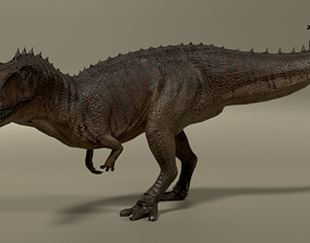 3D model animated low-poly Giganotosaurus