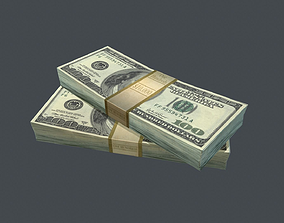 3D model Dollar Stack PBR Game Ready