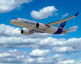 3D model Airbus A220 Bombardier CSeries