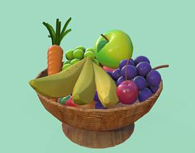 Fruit Bowl 3D model game-ready