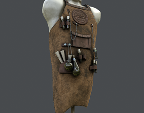 3D asset Old Clothes Stand