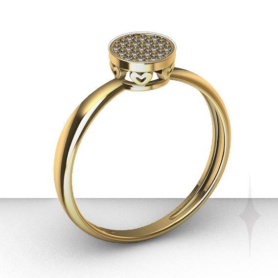 Ring diamond heart