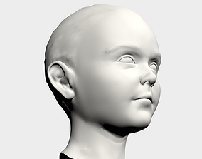 Baby head 02 3D