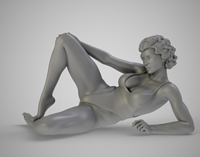 3D print model Girl Sitting on The Beach