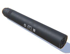 Tactical Silencer 45 ACP 9MM 3D model