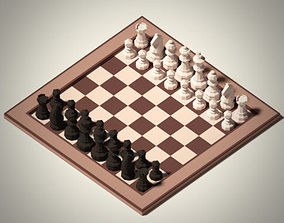 Low Poly Chess Pack 3D asset