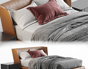 plaid minotti Reeves Bed 3D
