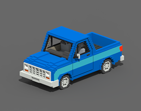 Voxel Pickup 3D asset low-poly