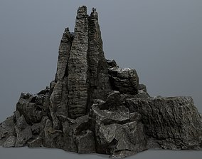 3D asset realtime desert nature rocks