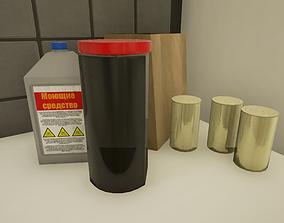A set of kitchen 3D asset