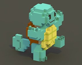 VR / AR ready Squirtle Voxel Model
