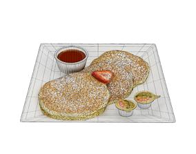 Buttermilk Pancakes 3D asset