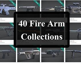 40 firearms collections 3D asset