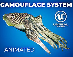 animated Cuttlefish Camouflage for UE4 and 3DS