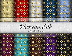Chevron Silk Seamless Textures Set 3D