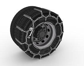 3D asset Studded Truck Tire Chains